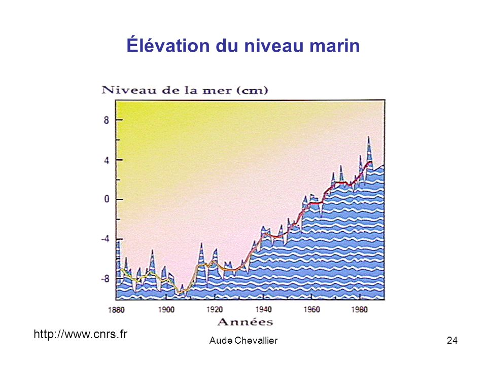 Aude Chevallier24 Élévation du niveau marin http://www.cnrs.fr