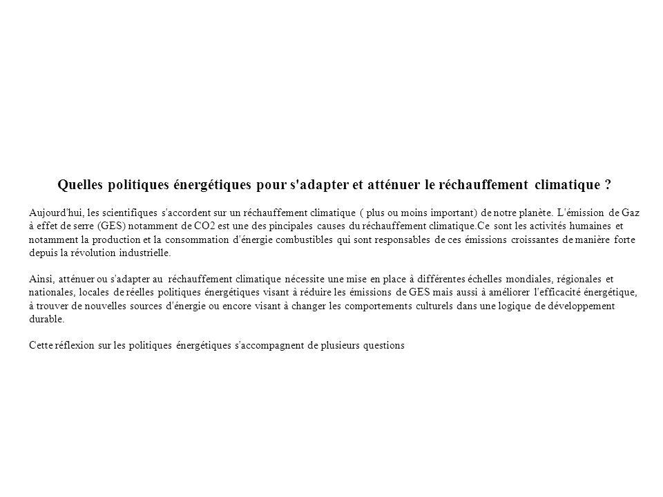 c) Quelles politiques d éfficacité énergétique .1.