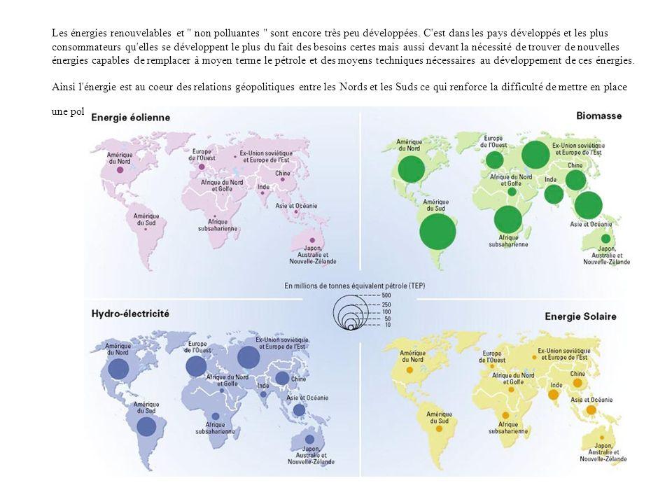 2/ L énergie : enjeux géopolitiques du XXIème siècle La forte consommation d énergie, l accroissement des besoins, la raréfaction des ressources comme l eau ou le pétrole font de l énergie un enjeu géopolitique majeure du XXIème siècle tant pour sa maîtrise, sa production, sa consommation et en priorité pour la survie de la planète.