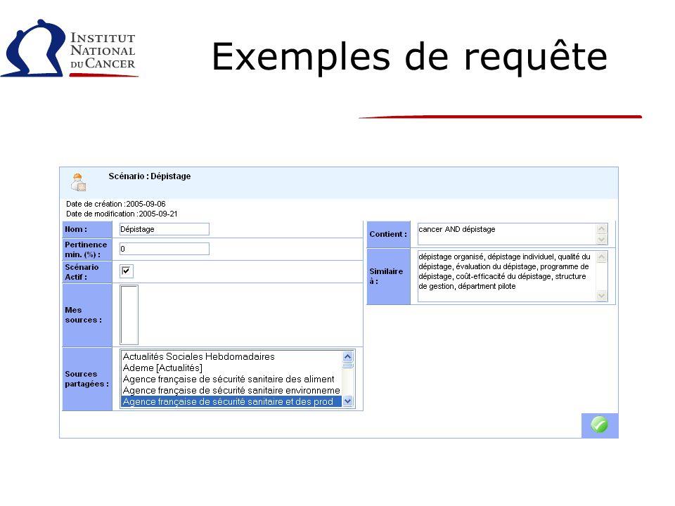 Exemples de requête