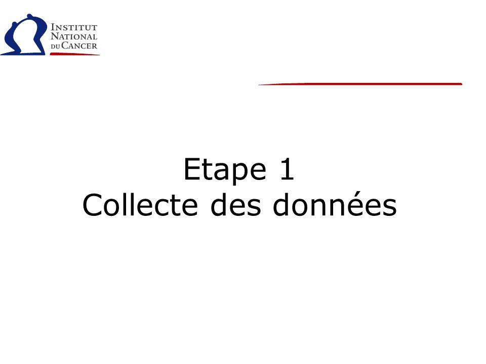 Etape 1 Collecte des données
