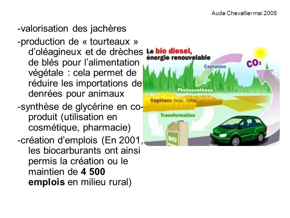 -valorisation des jachères -production de « tourteaux » doléagineux et de drèches de blés pour lalimentation végétale : cela permet de réduire les imp