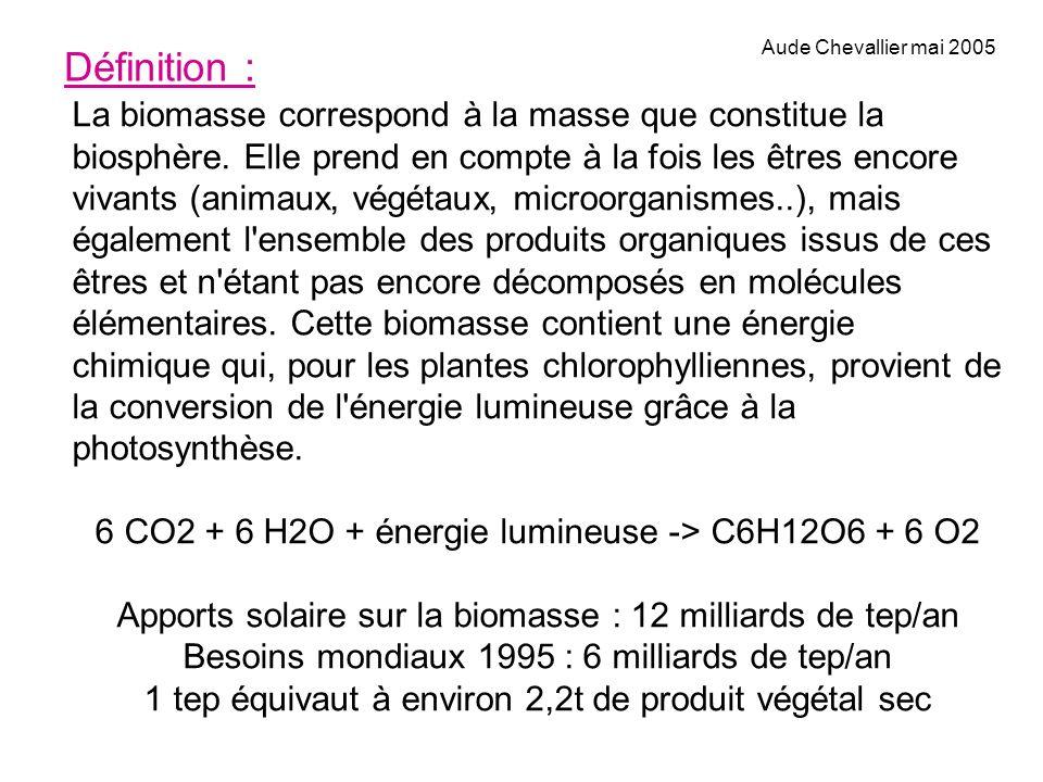 Définition : La biomasse correspond à la masse que constitue la biosphère. Elle prend en compte à la fois les êtres encore vivants (animaux, végétaux,