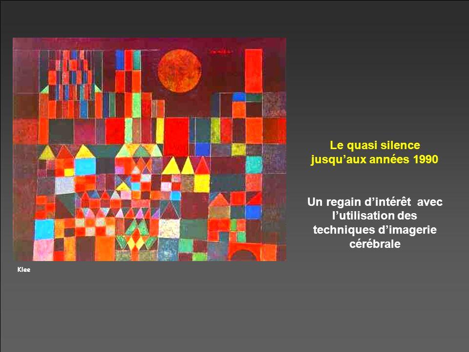 Klee Le quasi silence jusquaux années 1990 Un regain dintérêt avec lutilisation des techniques dimagerie cérébrale