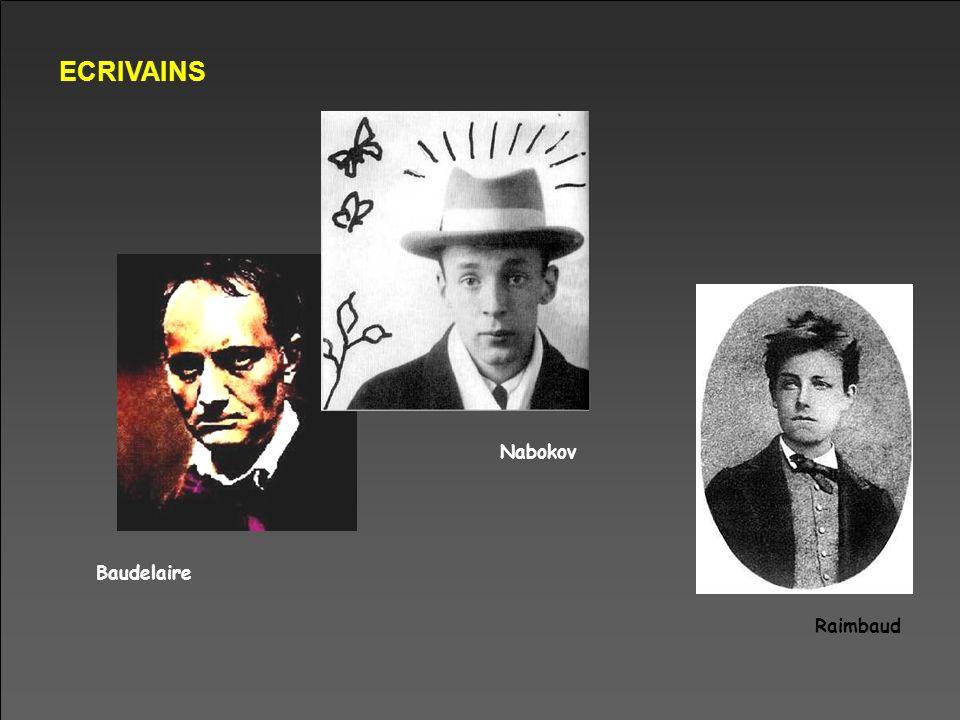 ECRIVAINS Baudelaire Nabokov Raimbaud