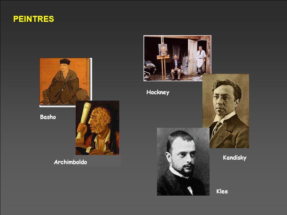 PEINTRES Basho Archimboldo Hockney Kandisky Klee
