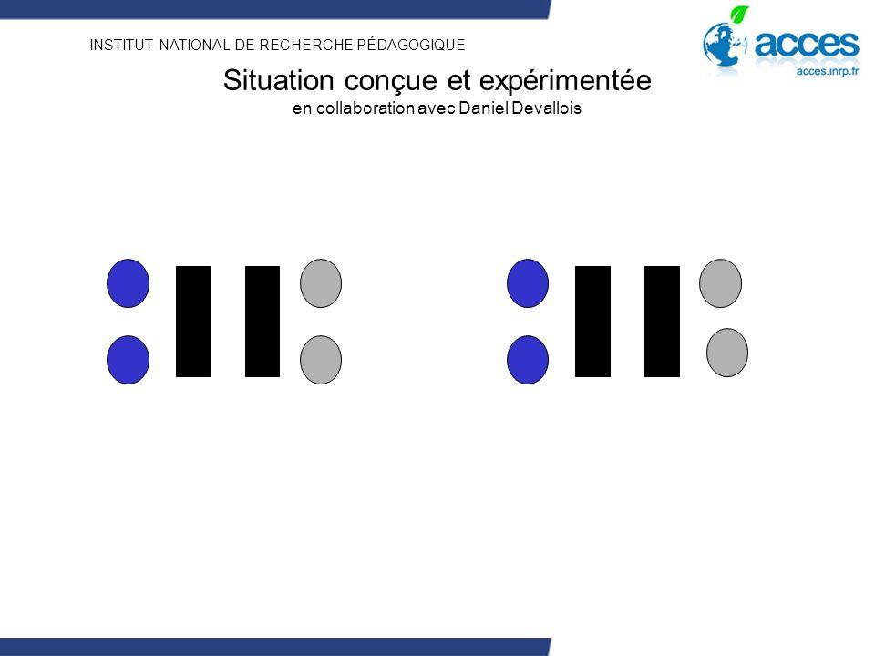 INSTITUT NATIONAL DE RECHERCHE PÉDAGOGIQUE Situation conçue et expérimentée en collaboration avec Daniel Devallois