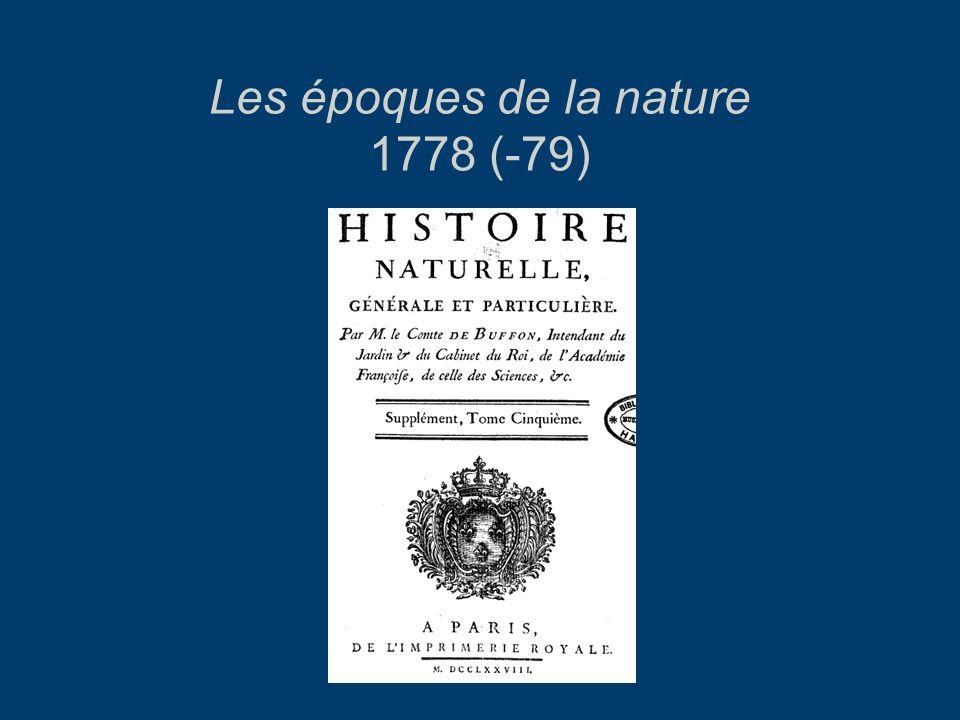 Les époques de la nature 1778 (-79)