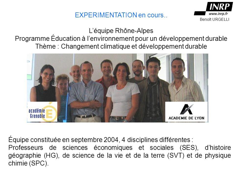 Léquipe Rhône-Alpes EXPERIMENTATION en cours..