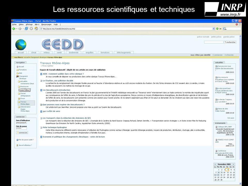 Les ressources scientifiques et techniques Photo ressources.