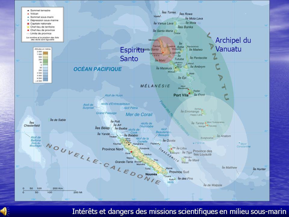 Plan Missions scientifiques Missions scientifiques –La dernière mission en cours : la mission Santo 2006 –Exemples de missions précédentes Intérêts In