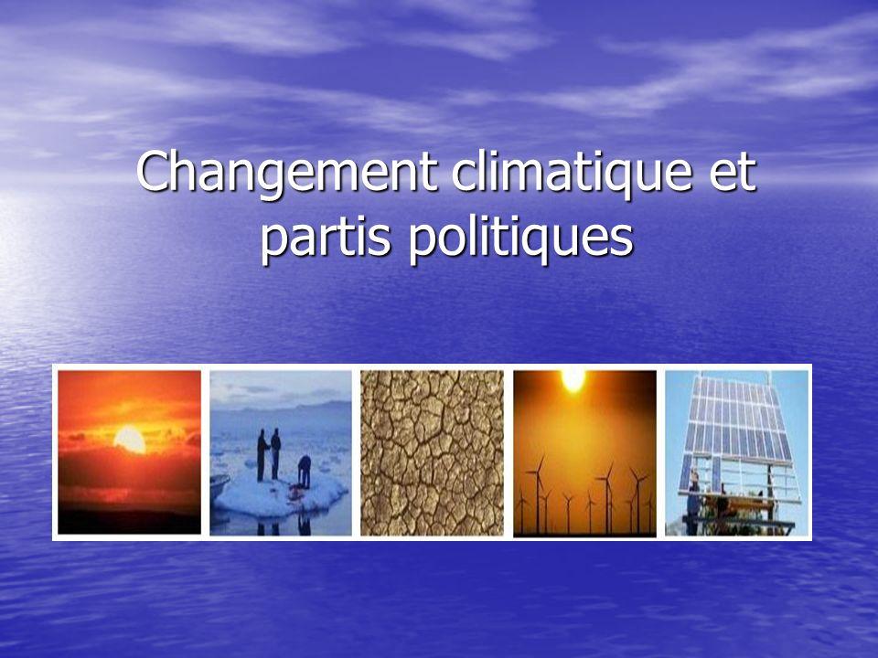 Changement climatique et partis politiques