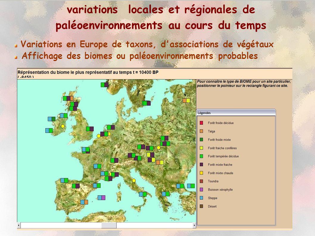 INRP-ACCES Corrélations climatiques avec les données faunistiques, océaniques et continentales....