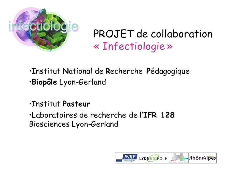 Institut National de Recherche Pédagogique Biopôle Lyon-Gerland Institut Pasteur Laboratoires de recherche de lIFR 128 Biosciences Lyon-Gerland PROJET