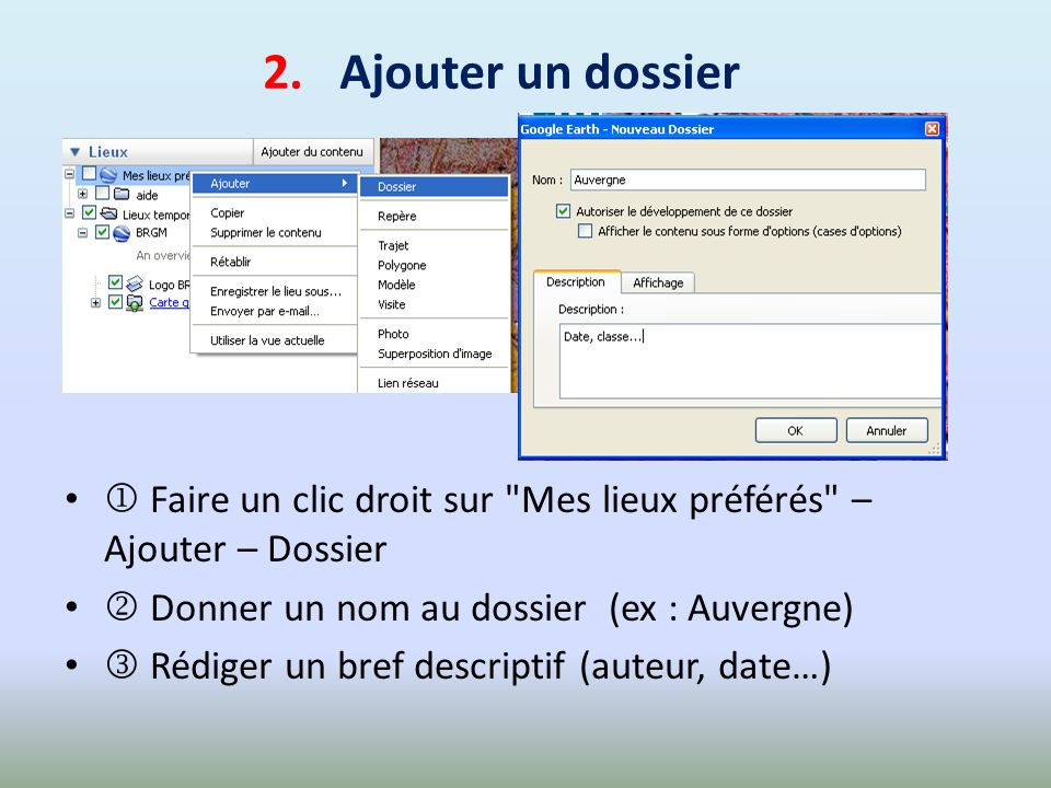 Faire glisser avec la souris les 4 cartes du dossier Cartes géologiques de France vers votre dossier Carte géologique de Royat .