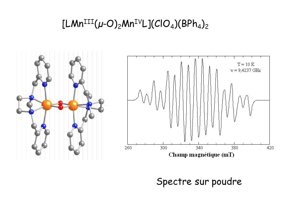 [LMn III (µ-O) 2 Mn IV L](ClO 4 )(BPh 4 ) 2 Spectre sur poudre