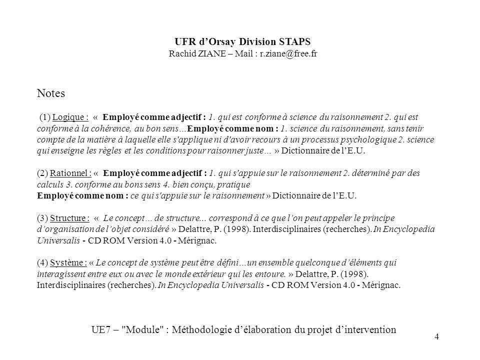 4 Notes (1) Logique : « Employé comme adjectif : 1.