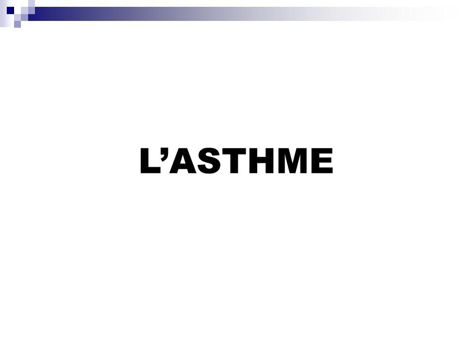 DEFINITION: Lasthme se définit cliniquement par la survenue dépisodes paroxystiques de dyspnée sifflante réversibles spontanément ou sous traitement bronchodilatateur.
