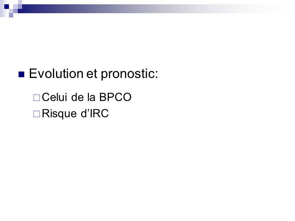 Evolution et pronostic: Celui de la BPCO Risque dIRC