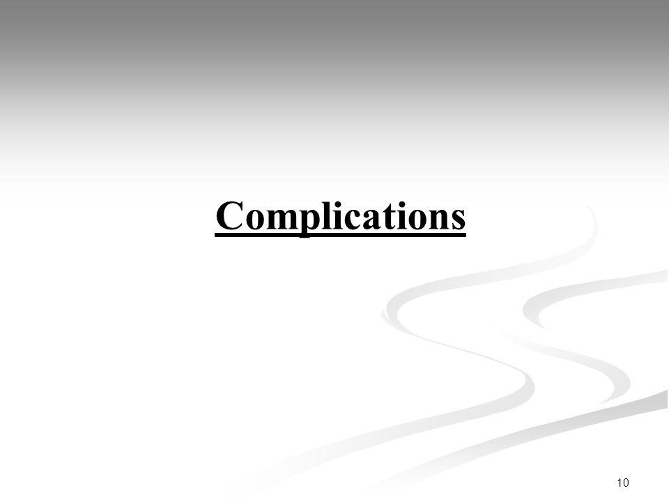 10 Complications