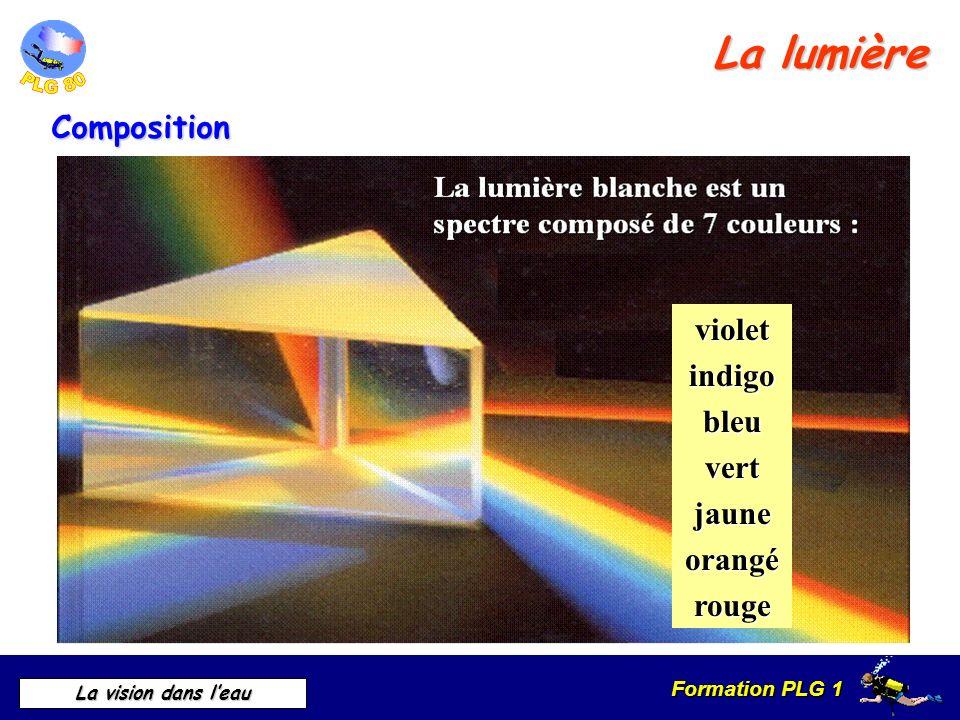Formation PLG 1 La vision dans leau violetindigobleuvertjauneorangérouge La lumière Composition