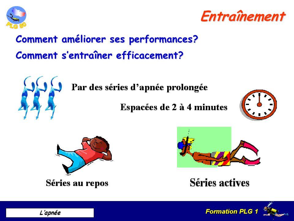 Formation PLG 1 Lapnée Entraînement Comment améliorer ses performances? Comment sentraîner efficacement?