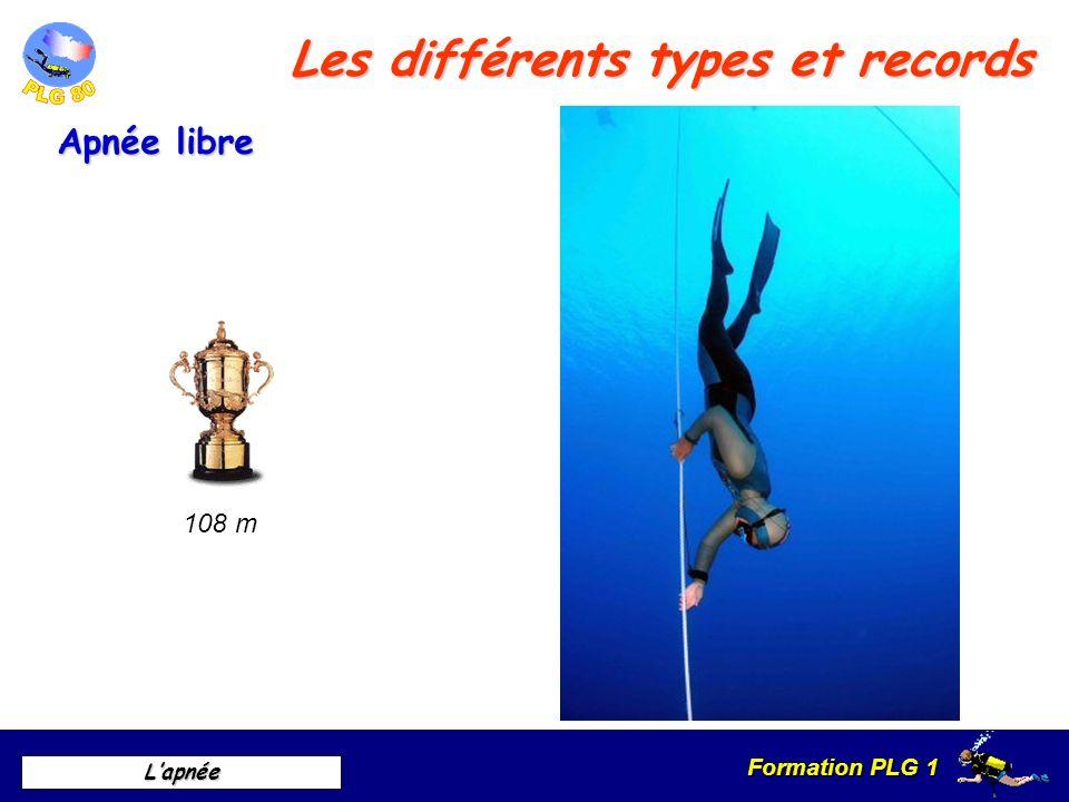 Formation PLG 1 Lapnée Les différents types et records Apnée libre 108 m