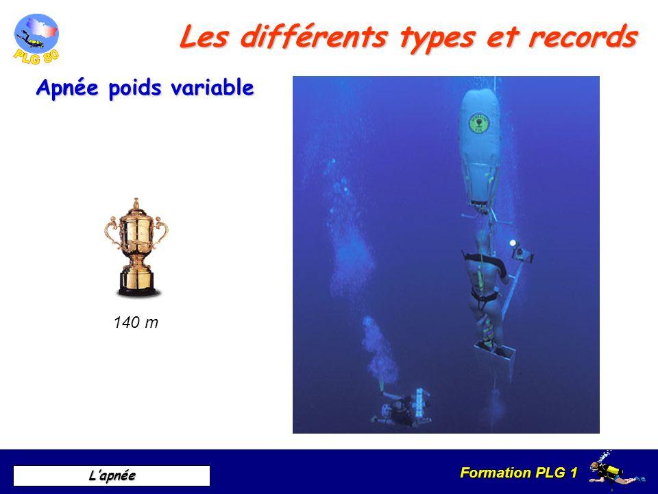 Formation PLG 1 Lapnée Les différents types et records Apnée no limit 214 m
