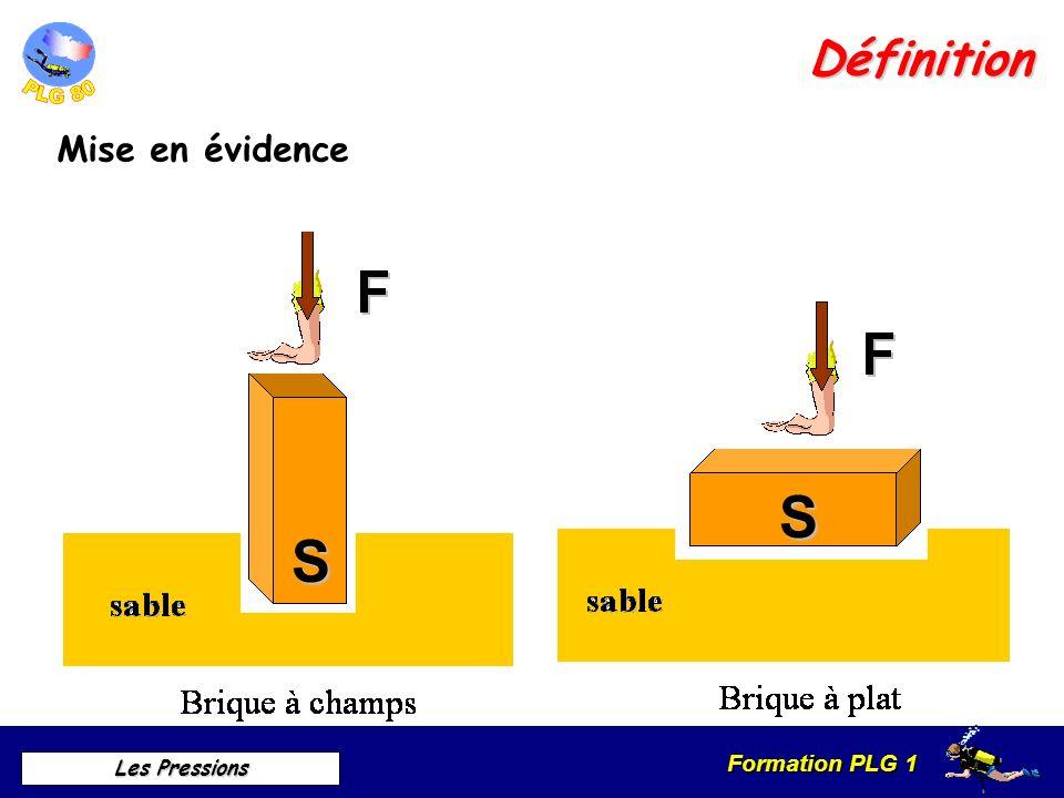 Formation PLG 1 Les Pressions Définition Mise en évidence SS