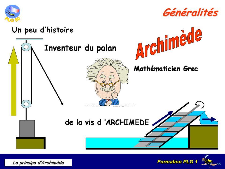Formation PLG 1 Le principe dArchimède Généralités Un peu dhistoire