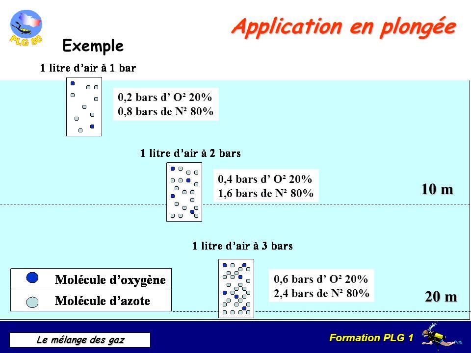 Formation PLG 1 Le mélange des gaz Application en plongée Toxicité des gaz LE DANGER DE LA TOXICITE DES GAZ Effet PAUL BERTO2O2 Effet LORRAIN SMITHO2O2 NARCOSEN2N2
