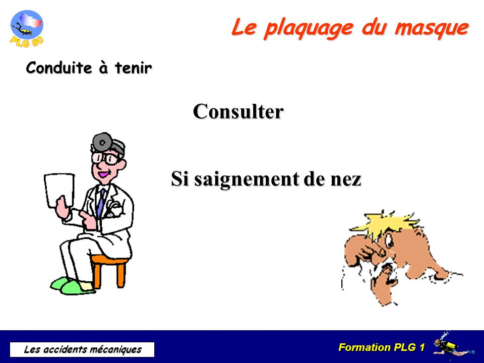Formation PLG 1 Les accidents mécaniques Les Dents Causes A la descente A la remontée
