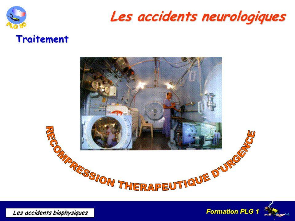 Formation PLG 1 Les accidents biophysiques Les accidents neurologiques Traitement