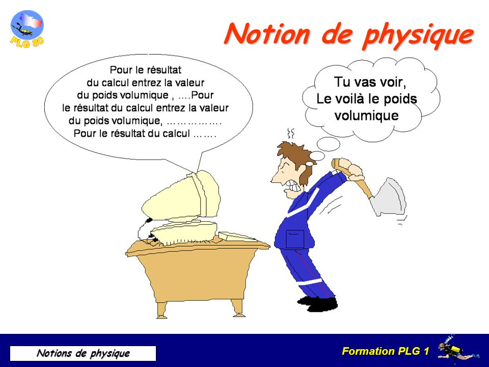 Formation PLG 1 Notions de physique Notion de physique