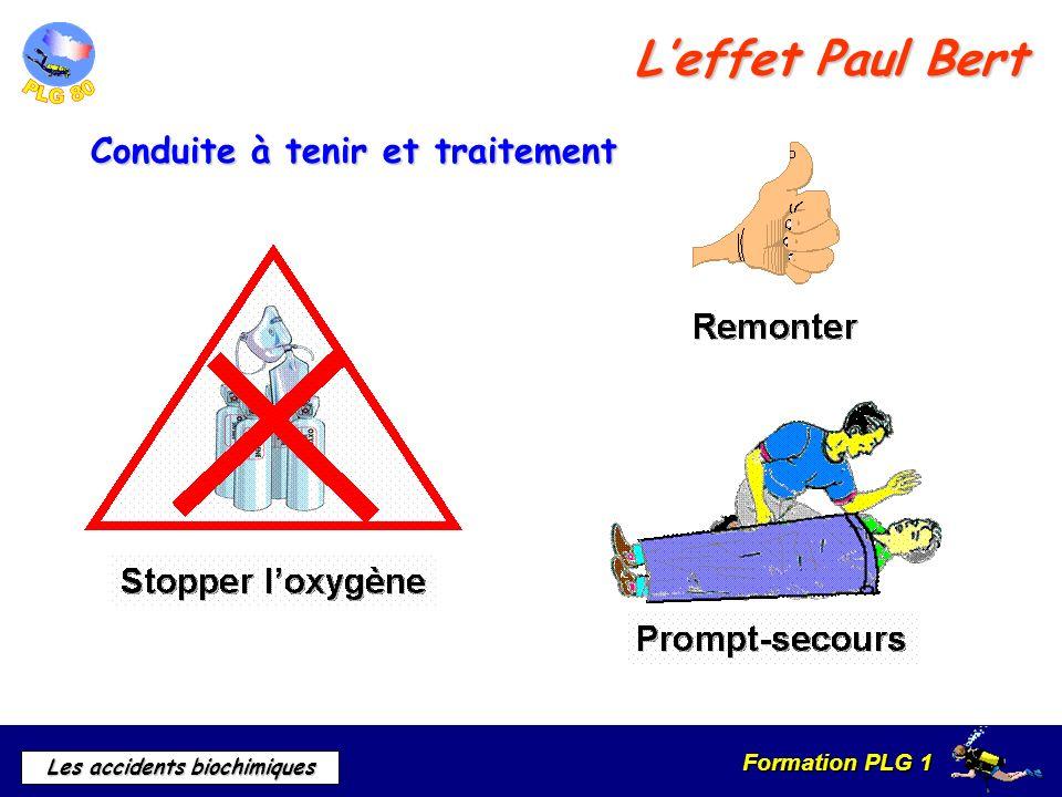 Formation PLG 1 Les accidents biochimiques Conduite à tenir et traitement Leffet Paul Bert