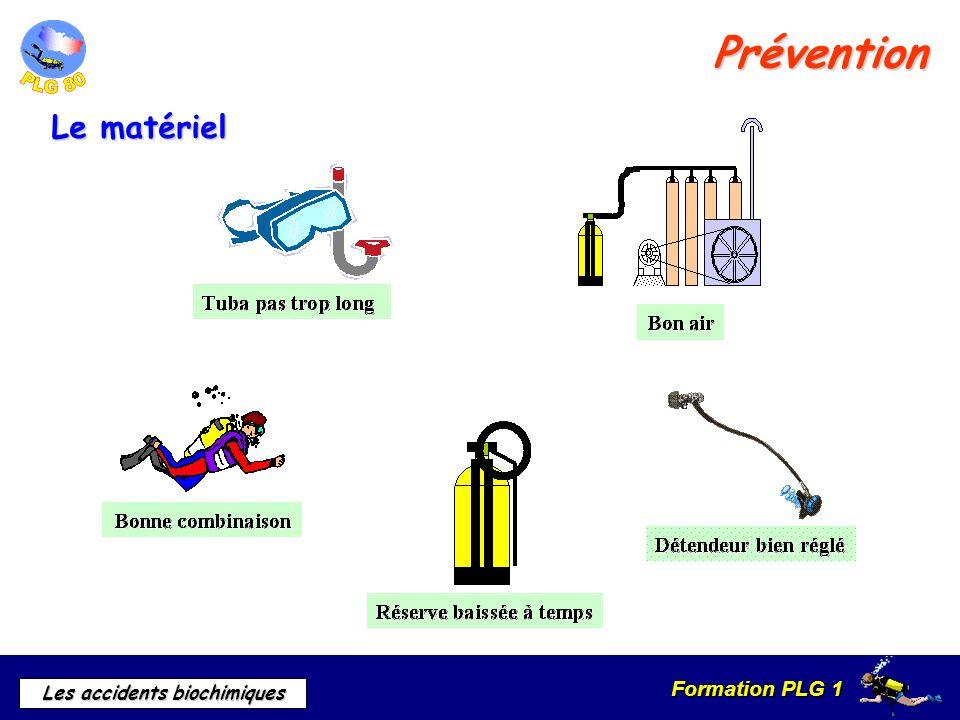 Formation PLG 1 Les accidents biochimiques Prévention Le matériel