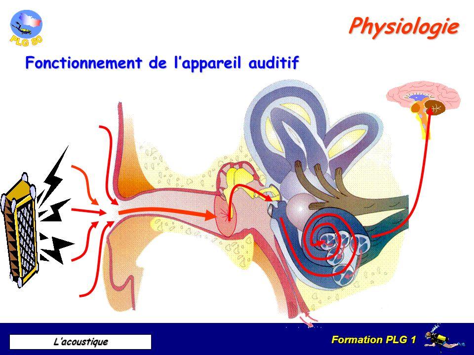 Formation PLG 1 Lacoustique Sensation auditive Engendrée par Transmise par Par une vibration acoustique Le son Vide Définition Physique