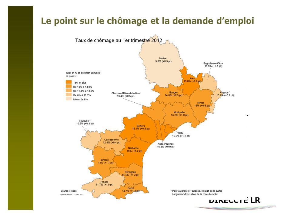 Le point sur le chômage et la demande demploi DIRECCTE LR – Service Etudes Statistiques Evaluation Documentation – 02/2012-©IGN