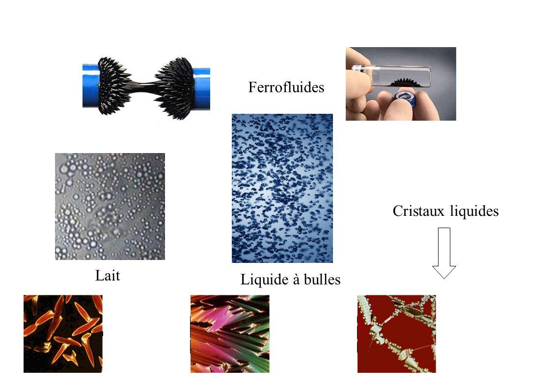 Ferrofluides Lait Liquide à bulles Cristaux liquides