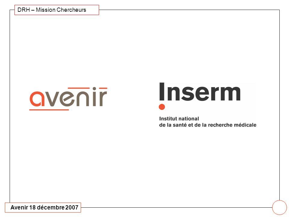 Avenir 18 décembre 2007 DRH – Mission Chercheurs 20 2007 Bilan dinstallation des lauréats 2006