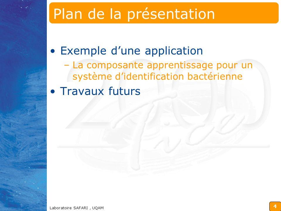 3 Laboratoire SAFARI, UQAM Plan de la présentation Introduction Définition de tâches Primitives de décomposition dune tâche Représentation dune tâche