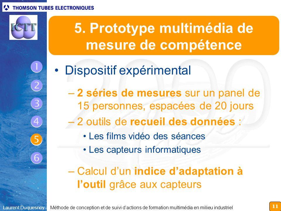 11 Laurent Duquesnoy - Méthode de conception et de suivi dactions de formation multimédia en milieu industriel 5. Prototype multimédia de mesure de co