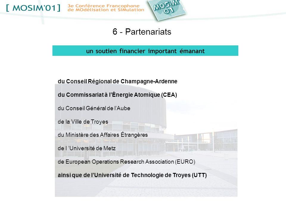 6 - Partenariats du Conseil Régional de Champagne-Ardenne du Commissariat à lÉnergie Atomique (CEA) du Conseil Général de lAube de la Ville de Troyes