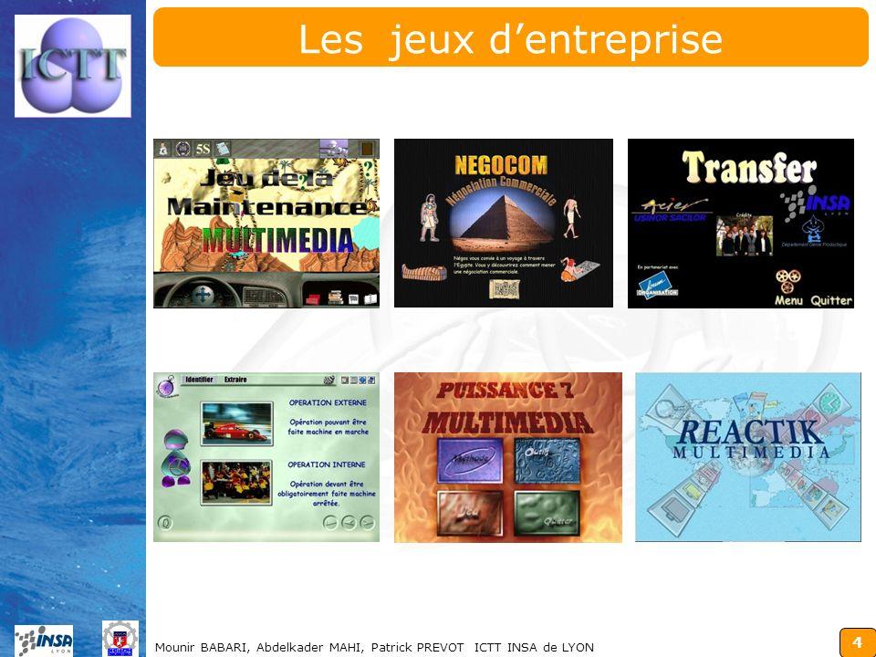 4 Mounir BABARI, Abdelkader MAHI, Patrick PREVOT ICTT INSA de LYON Les jeux dentreprise