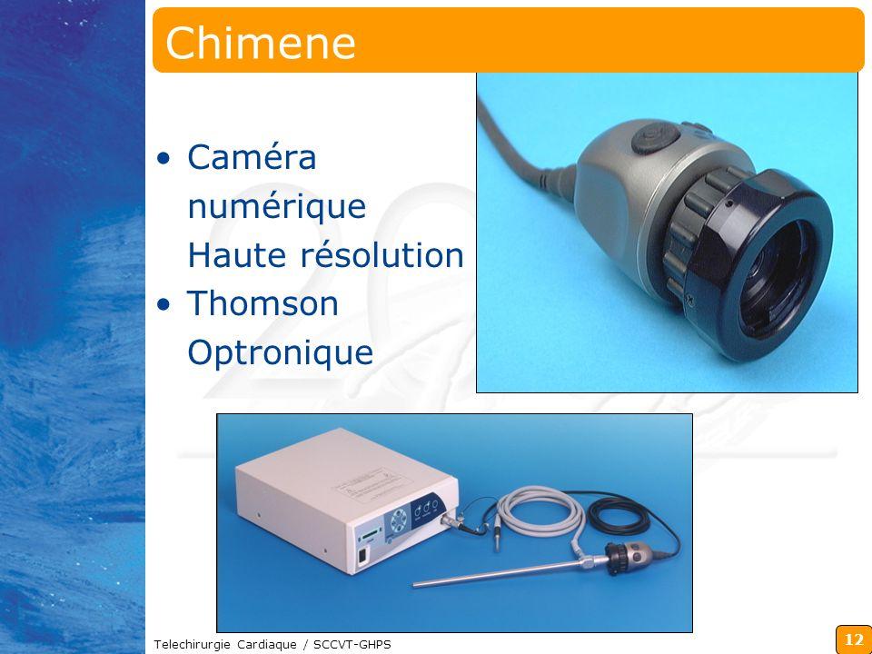 12 Telechirurgie Cardiaque / SCCVT-GHPS Chimene Caméra numérique Haute résolution Thomson Optronique