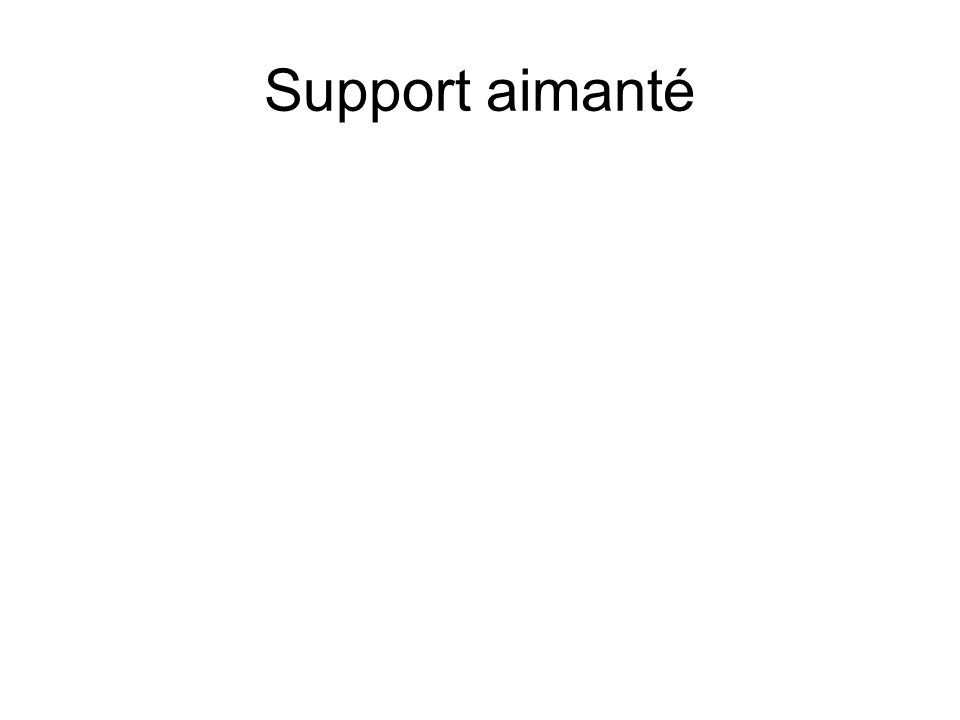 Support aimanté