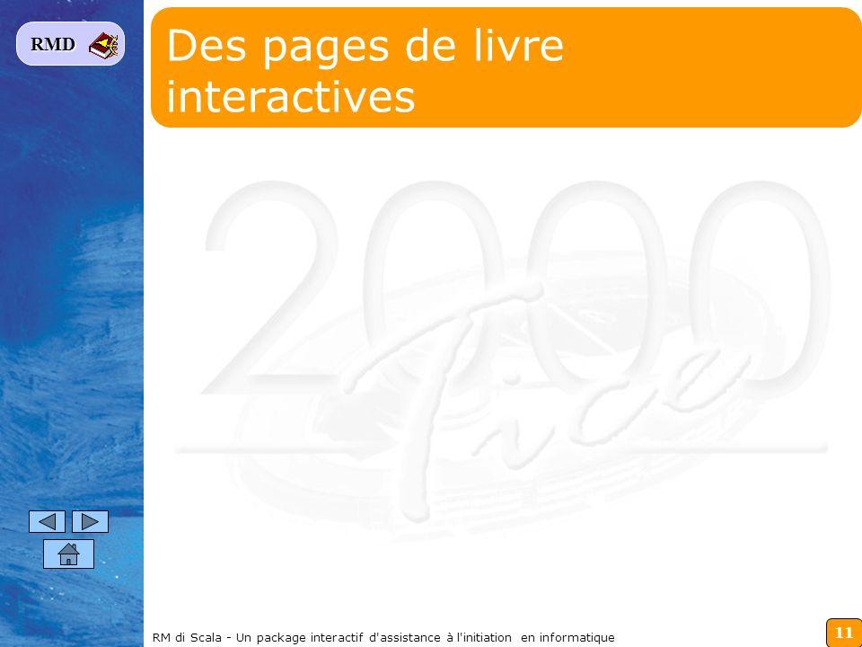 11 RMD RM di Scala - Un package interactif d'assistance à l'initiation en informatique Des pages de livre interactives
