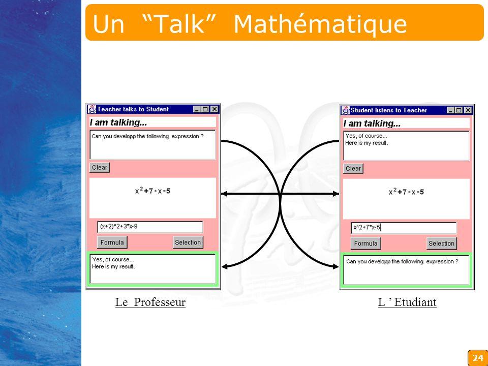24 Le Professeur L Etudiant Un Talk Mathématique