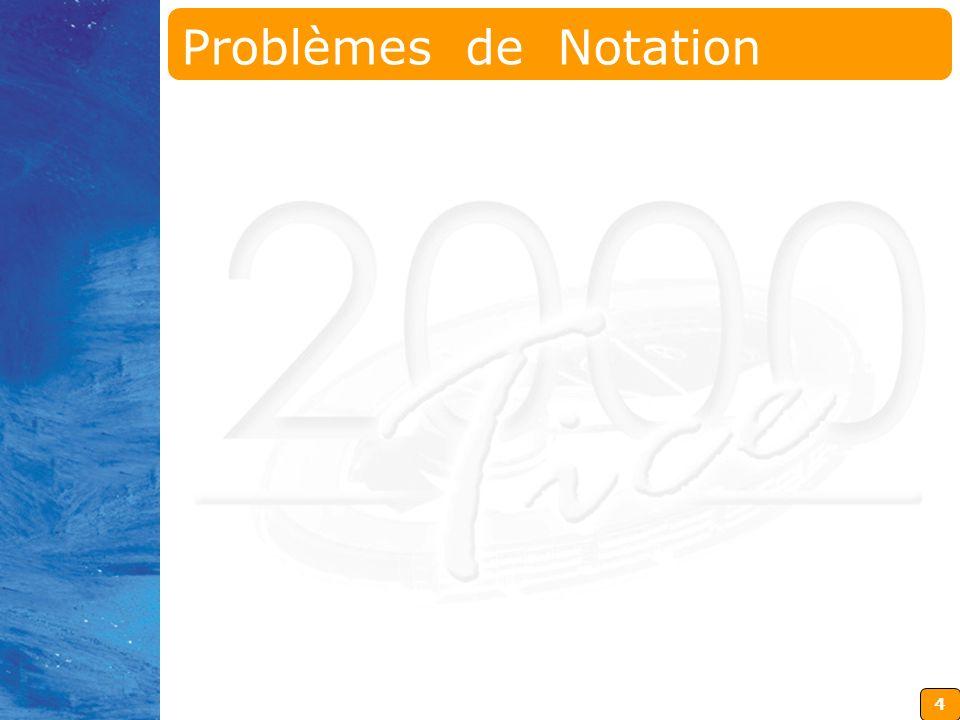 4 Problèmes de Notation