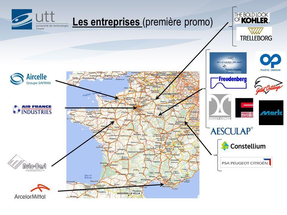 Les entreprises (première promo)